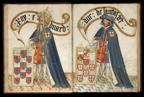 El rey Eduardo III y el duque de Lancaster