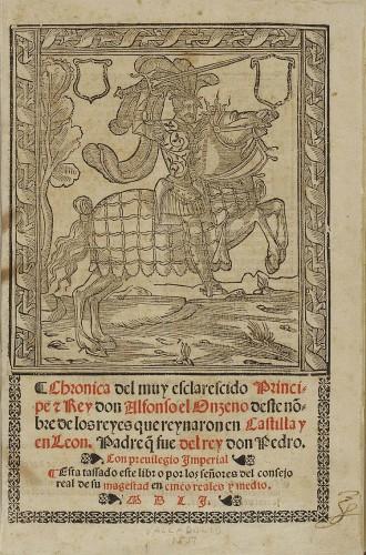 Crónica de don Alfonso el Onceno. Alfonso XI fue el creador de la orden, desaparecida ya durante el reinado de los Reyes Católicos