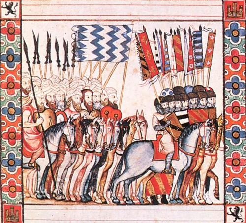 Una algara caballeresca, según las Cantigas de Alfonso X el Sabio (s. XIII)