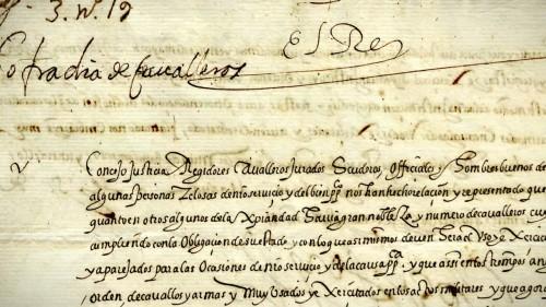 Comienzo de la Real Cédula de 1572 (RMR)
