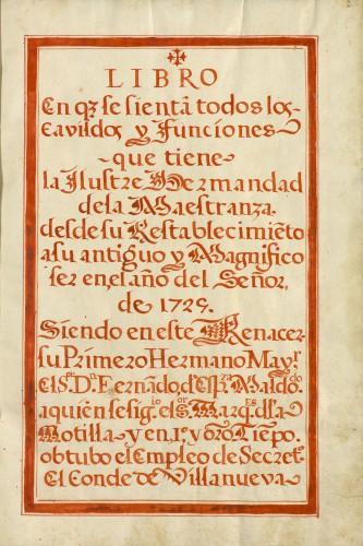 Libro de cabildos de la RMCS, 1725