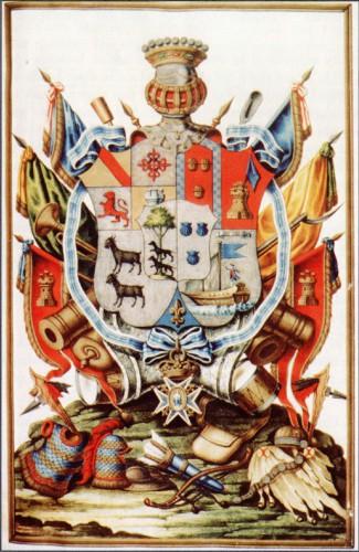 Armas del I conde de Gálvez