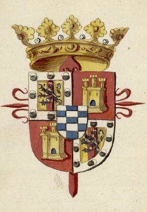 Armas del marqués de Caracena, dedicatario del manuscrito (todas las fotografías, BNE)