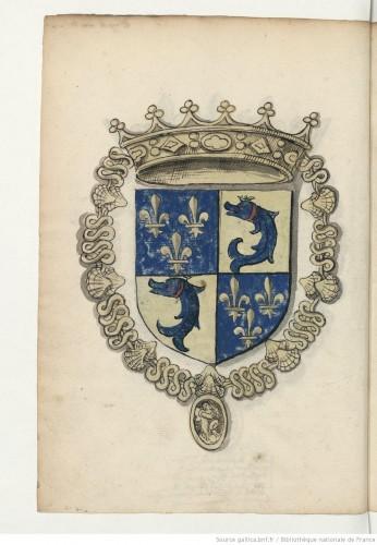 Armas del Delfín, príncipe heredero de Francia (Fotografías: BNF)