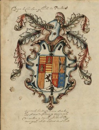 Armas del Duque de Cardona (Fotografías: BNE)