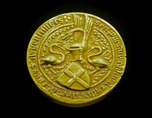 Sello de cera de Gilles, barón de Rais (Fuente: Wikimedia)