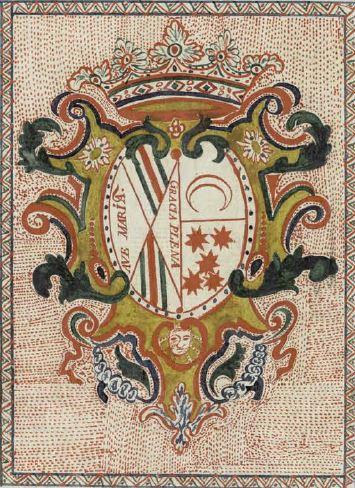 Las armas de los Duques del Infantado, en el manuscrito