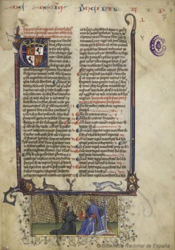 De Regimine Principum, de Egidio Romano (s. XIV). Biblioteca Nacional.