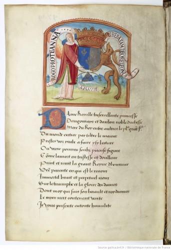 Las armas de Ana de Bretaña, reina de Francia
