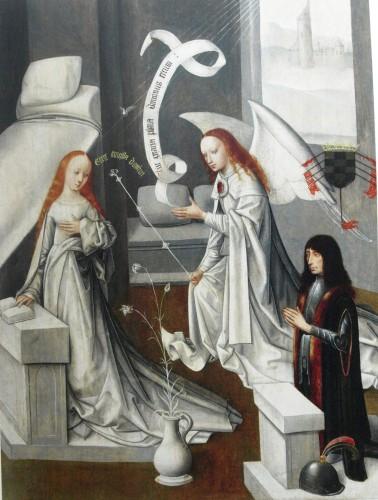 Anunciación con el I Duque de Alba, 1474