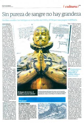 """De """"El Correo de Andalucía"""", 12/01/2015. Pinchar en la imagen para agrandar"""