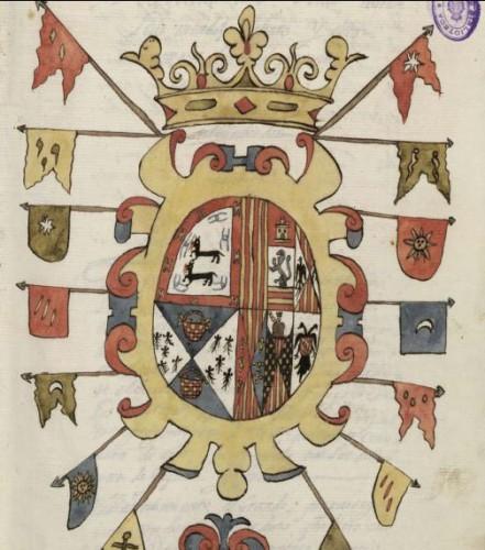 Armas de don Luis Méndez de Haro, en el Epílogo de la nobleza de España sacado y recopilado de diferentes y varios autores por Diego de Soto y Aguilar
