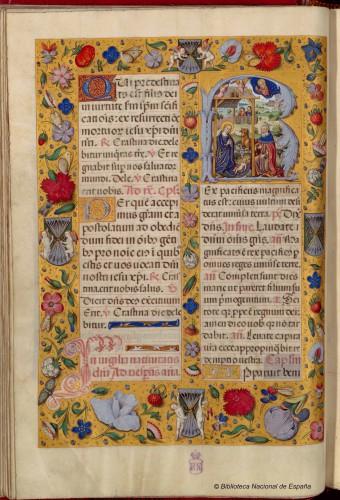 Breviario de Isabel la Católica (c. 1495). BNE, Vitr/18/8.