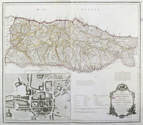 Mapa de el Principado de Asturias, Dedicado al Sereníssimo Señor Don Carlos Antonio Principe de Asturias : comprehende todos sus Concejos, Cotos y Jurisdicciones Por D. Tomas Lopez Geografo de los Dominios de S.M... (1777)