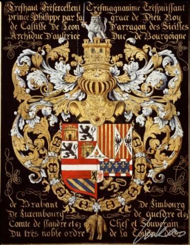 Armas de Felipe II en el coro de la Catedral de Gante (Lukas Art in Flanders)