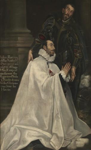 El maestre de campo Julián Romero y san Teodoro, por El Greco