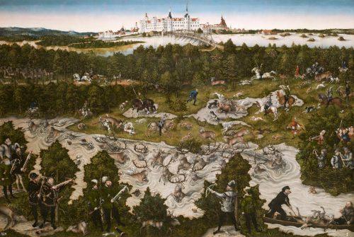 Lucas Cranach el Viejo: Cacería en el castillo de Torgau en honor a Fernando I (Prado)